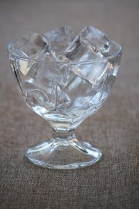 Clear glass with Ice-Cubes