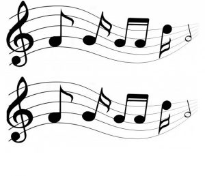2 rows of generic musical notes
