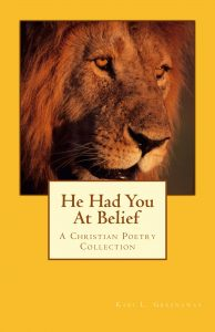 He had you at belief old cover; Yellow background with head of a lion on it