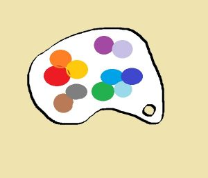 Painters Palette with Colors on it