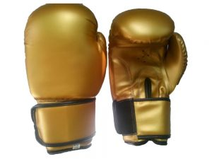 Pair of Gold Boxing Gloves
