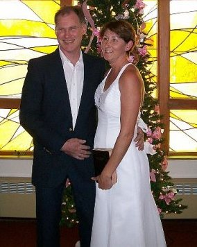 Mark & Kari Greenaway on their wedding day