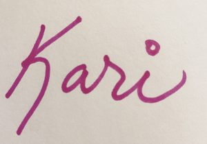 Author's First name in pink