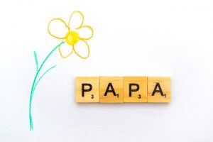Flower with scrabble words PAPA
